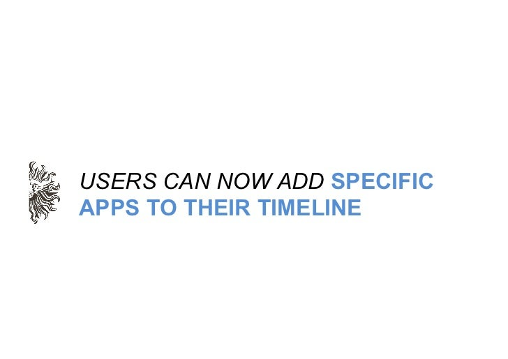USERS CAN NOW ADD SPECIFICAPPS TO THEIR TIMELINE