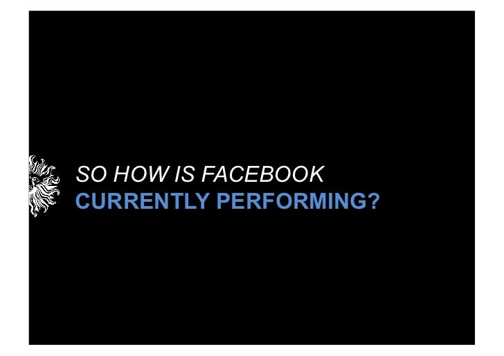 SO HOW IS FACEBOOKCURRENTLY PERFORMING?