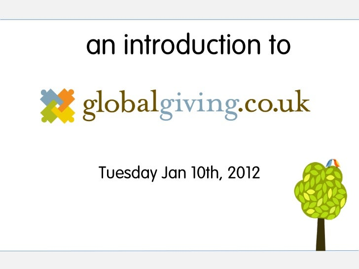 an introduction to Tuesday Jan 10th, 2012