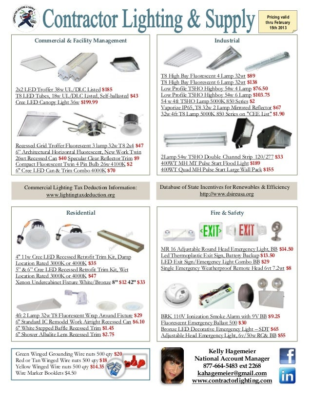 Pricing valid thru .  sc 1 st  SlideShare : contractor lighting - azcodes.com