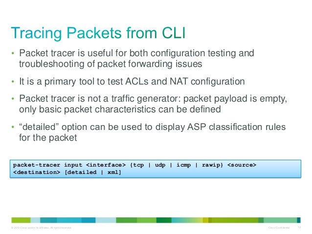 Using packet-tracer, capture and other Cisco ASA tools for network tr…