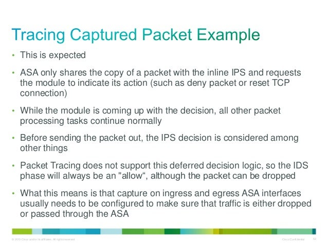 Using packet-tracer, capture and other Cisco ASA tools for