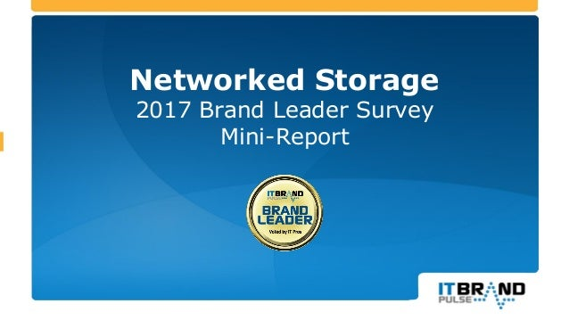Networked Storage 2017 Brand Leader Survey Mini-Report