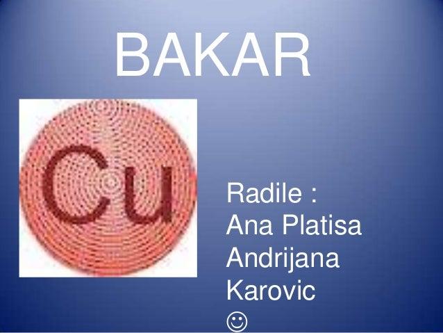 BAKAR Radile : Ana Platisa Andrijana Karovic 