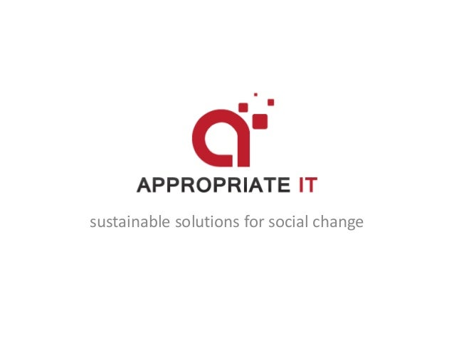 sustainable solutions for social change