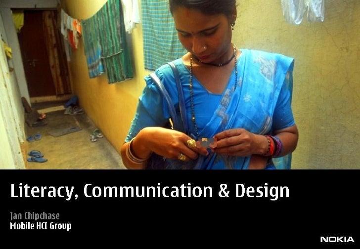 Communication Literacy Design Slide 1