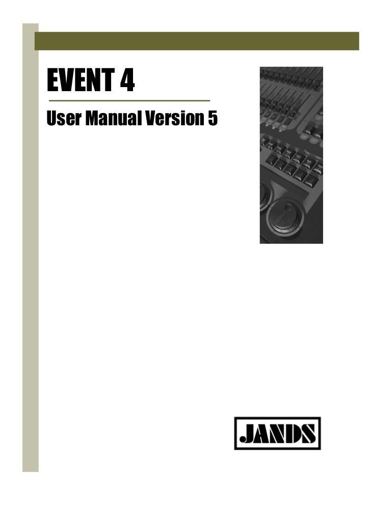 EVENT 4User Manual Version 5