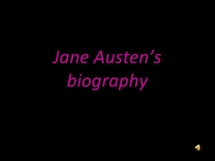 Jane Austen's biography
