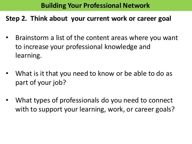 LinkedIn Network • What patterns do you see? • What surprises you? • What might you do differently with your network to re...