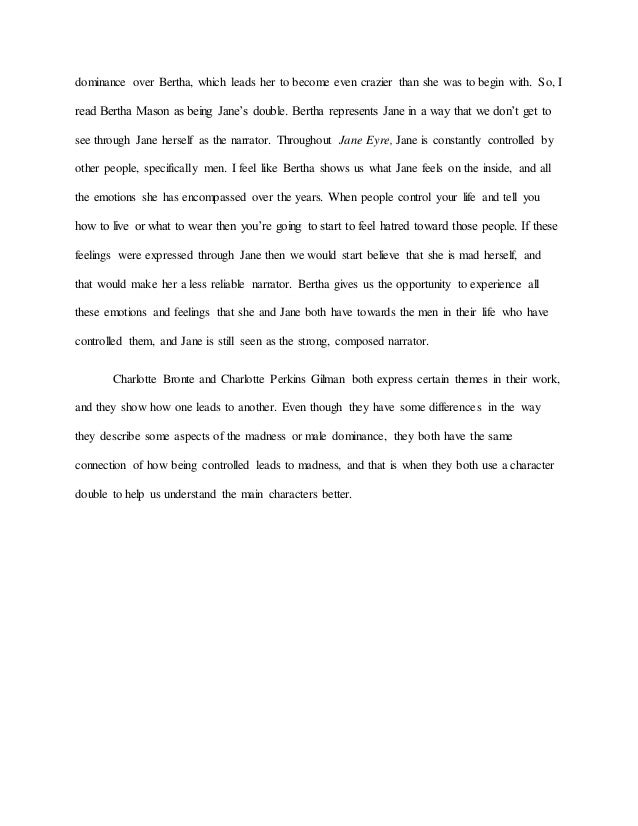 High School Entrance Essay   Dominance  English Essay Book also Essay Format Example For High School The Connection Of Similar Themes In Jane Eyre And The Yellow Wallpap Science And Literature Essay