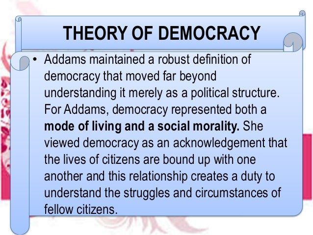 jane addams democracy and social ethics pdf