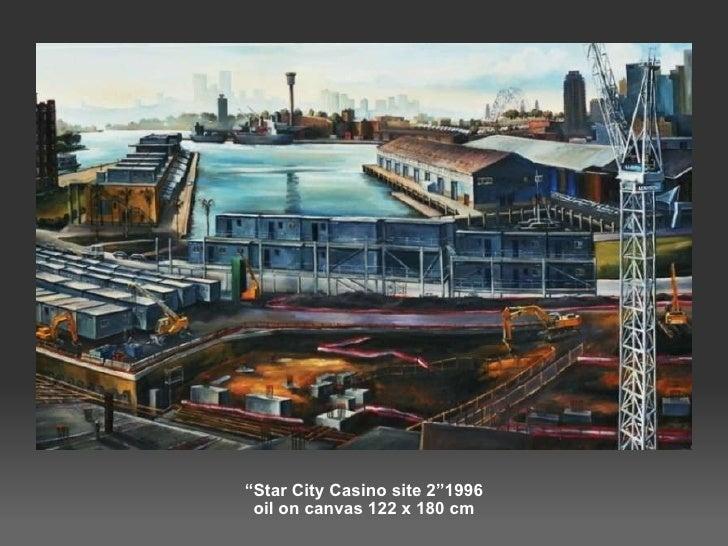 """ Star City Casino site 2""1996 oil on canvas 122 x 180 cm"