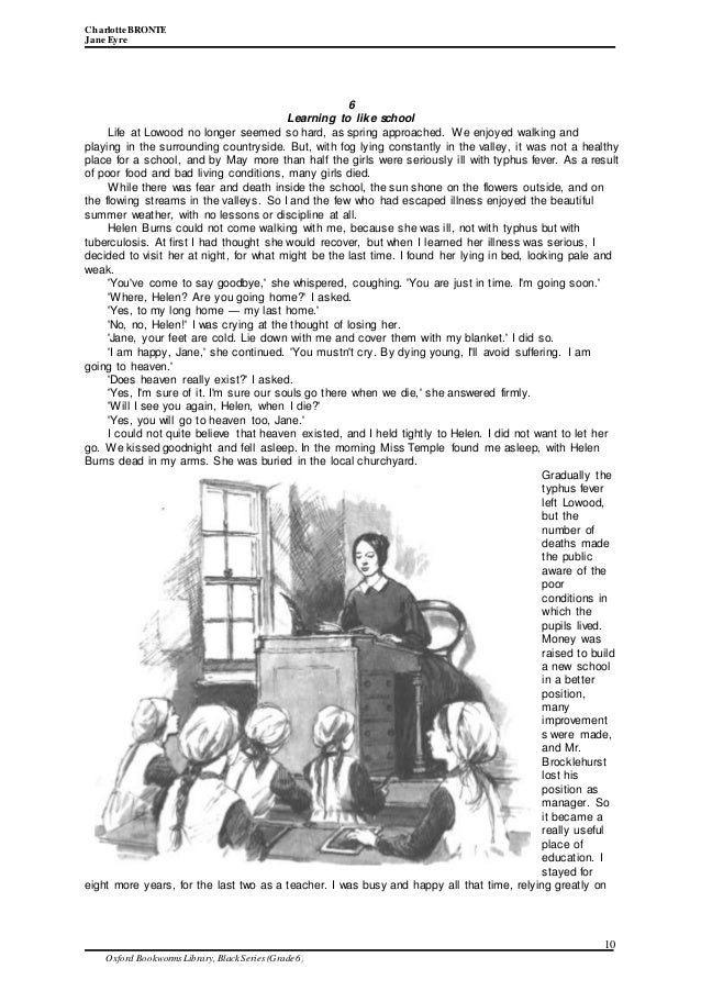 lowood in jane eyre essay example Critical essays sample essay outlines jane eyre analysis - essay miss temple at lowood is jane's first positive mother figure.