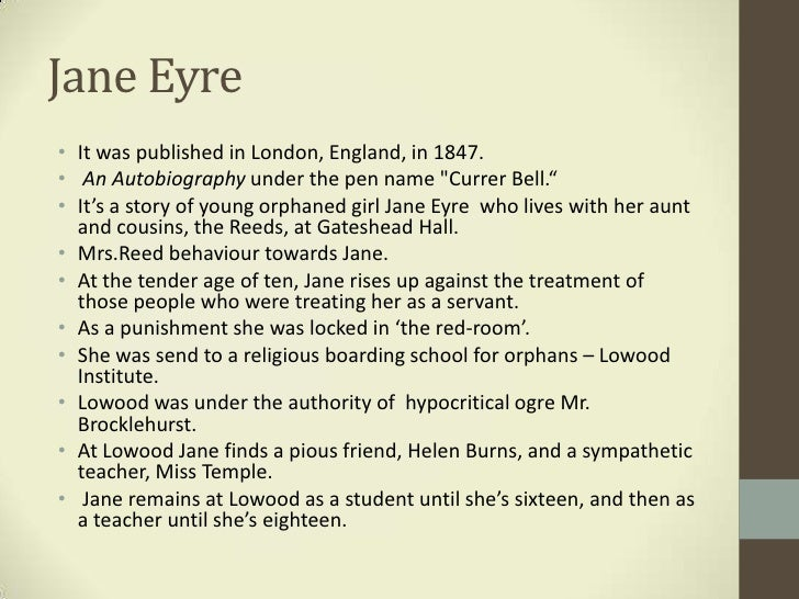 janes outburst against mrs reed in jane eyre by charlotte bronte A poor governess, jane eyre, captures the heart of her enigmatic employer, edward rochester jane discovers that he has a secret that could jeopardize any hope of happiness between them charlotte brontë (21 april 1816 - 31 march 1855) was an english novelist and poet, the eldest of the three .