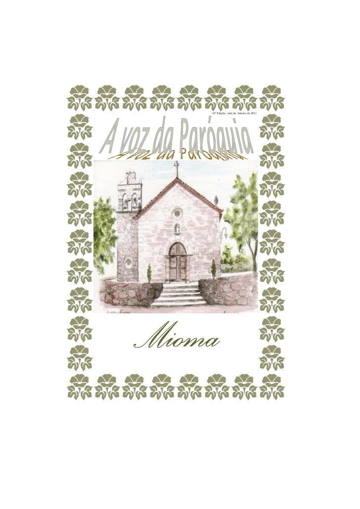 41ª Edição, mês de Janeiro de 2011Mioma