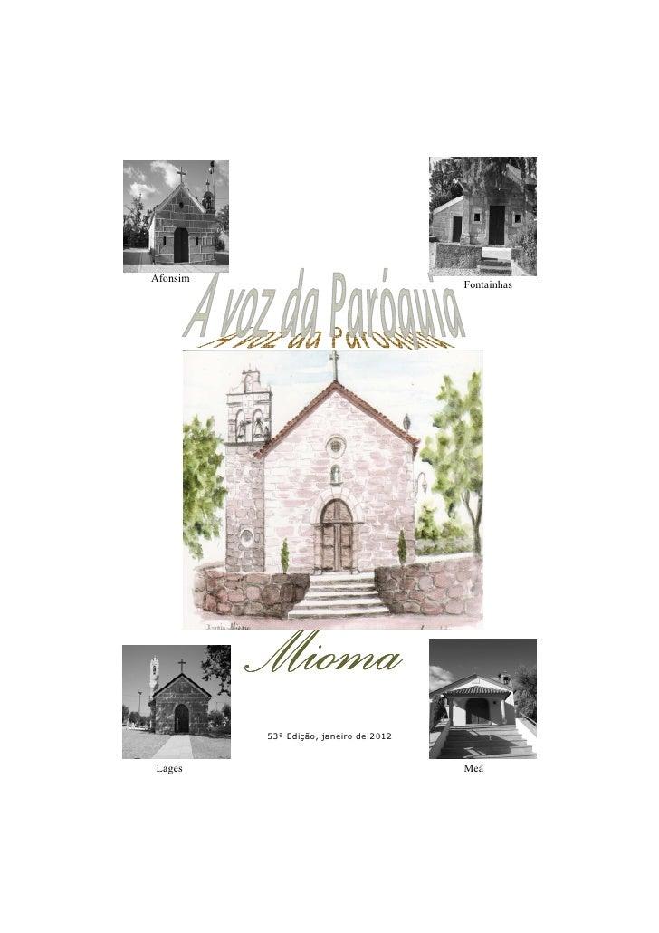 Afonsim                                        Fontainhas          Mioma          53ª Edição, janeiro de 2012Lages        ...