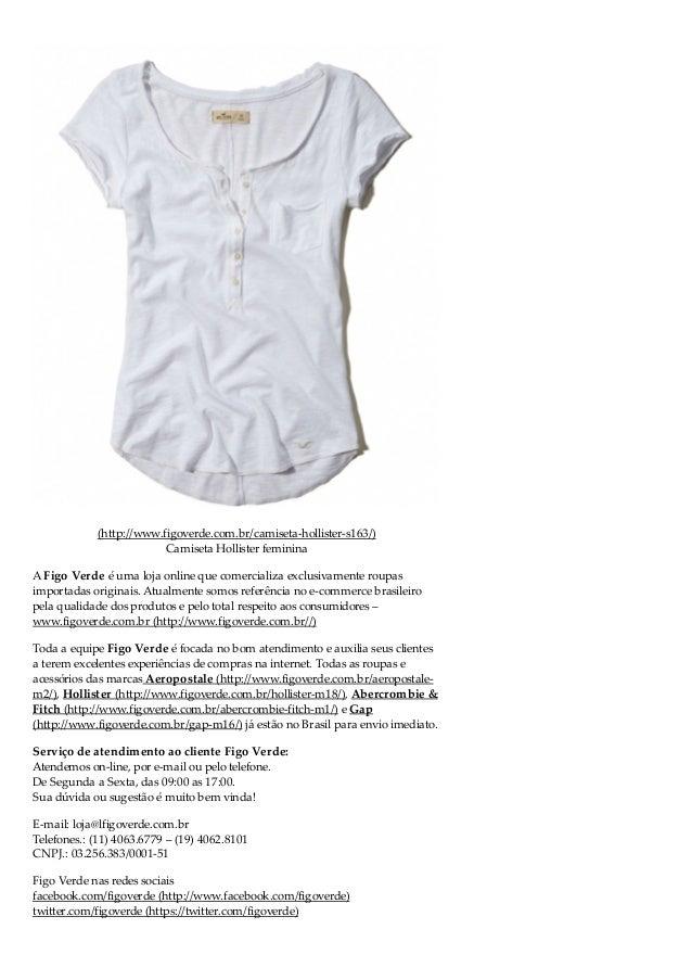 43e7e2160663e Camiseta Hollister feminina  5.