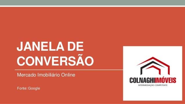 JANELA DE CONVERSÃO Mercado Imobiliário Online Fonte: Google