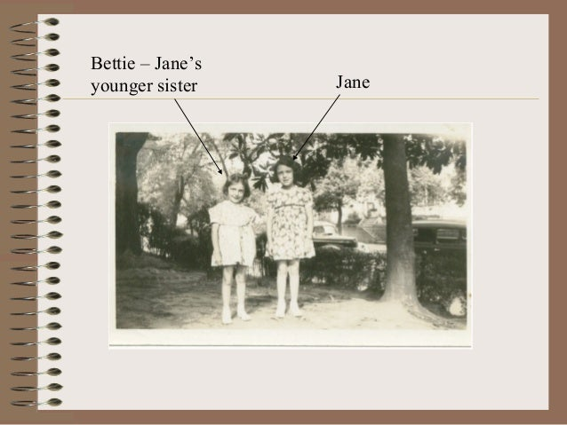 Bettie – Jane'syounger sister Jane