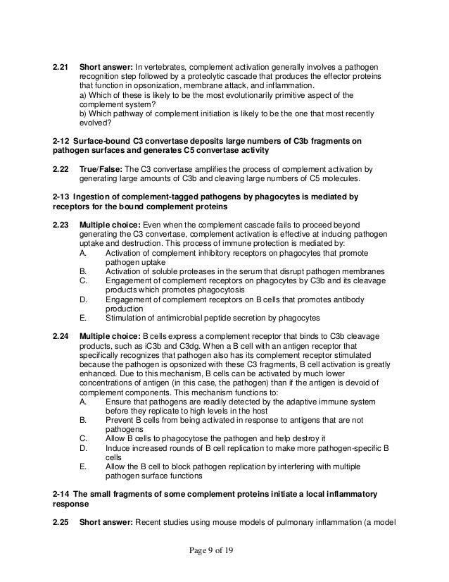 Janeways Immunobiology 9th Edition Murphy Test Bank