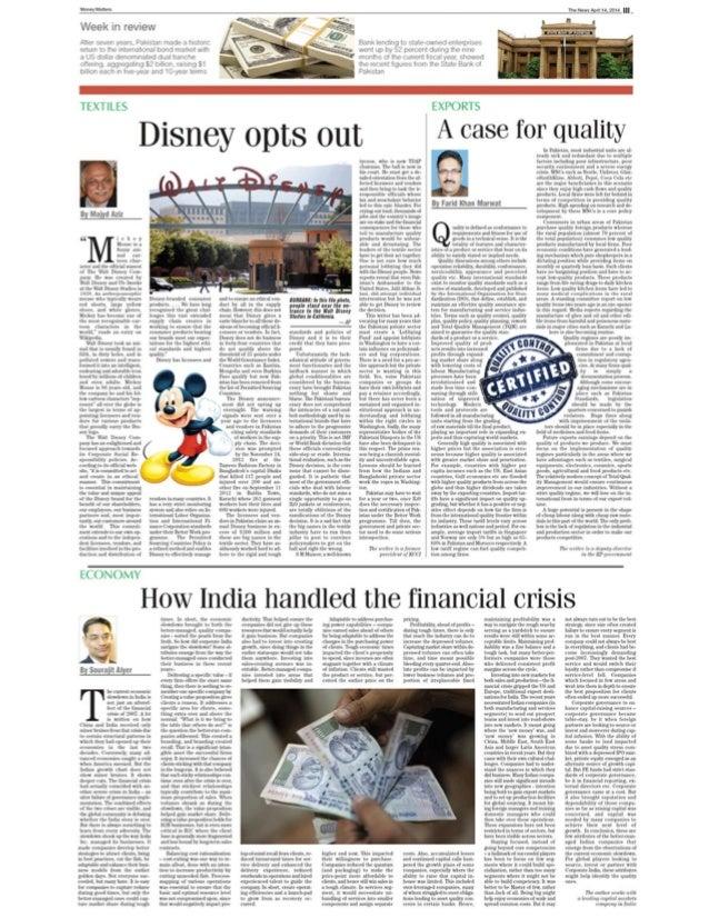 Sourajit Aiyer - Jang Group Pakistan The News International - India and the economic slowdown, Apr 2014