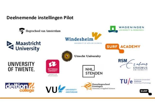 Deelnemende instellingen Pilot