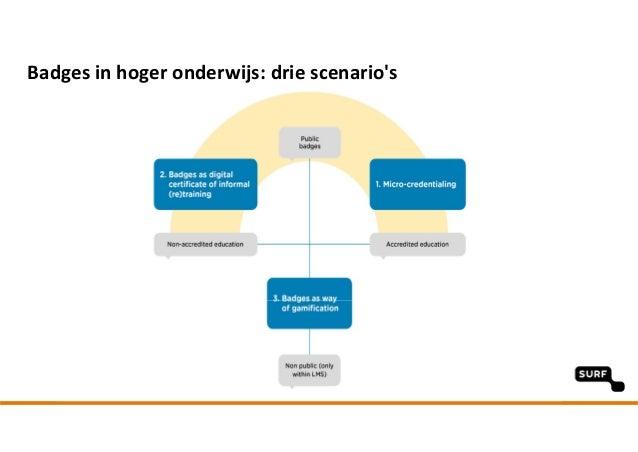 Badgesinhoger onderwijs:drie scenario's