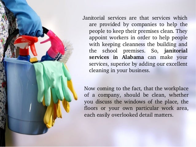 Janitorial Cleaning Services In Alabama
