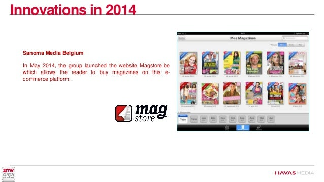 A digest of the media news from jan to june 2014 digital for Sanoma magazines belgium