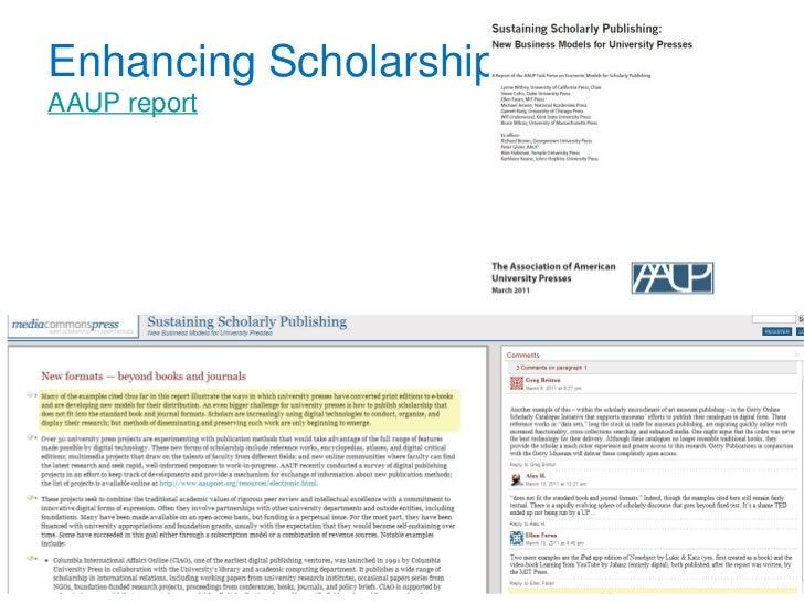 Enhancing Scholarship...AAUP report                           8