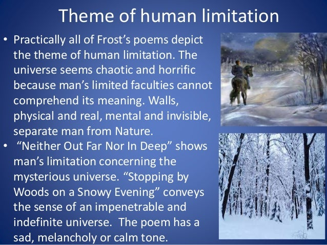 The themes of robert frosts poetry