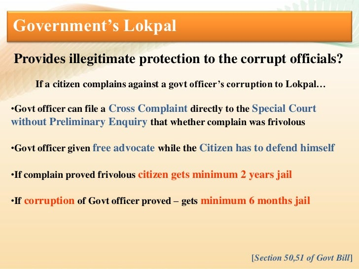 Jan lokpal vs govt. lokpal Slide 3
