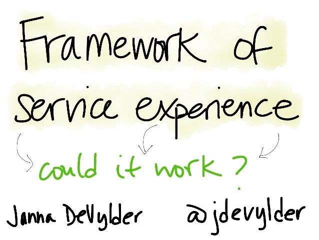 Framework of service experience: Could it work?
