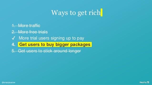 Bonus experiment: Play with pricing. @simplybastow