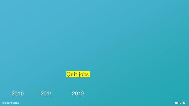 2010 2011 2012 Quit jobs @simplybastow
