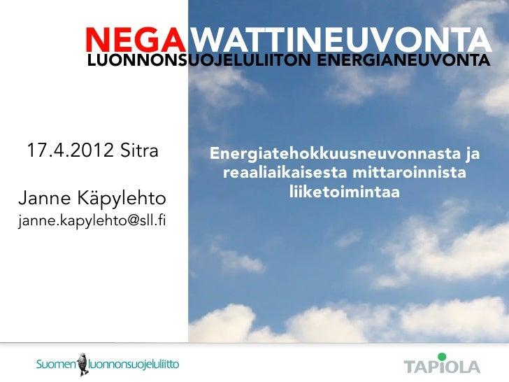 NEGA WATTINEUVONTALUONNONSUOJELULIITON ENERGIANEUVONTA             NEGA WATTINEUVONTA             LUONNONSUOJELULIITON ENE...