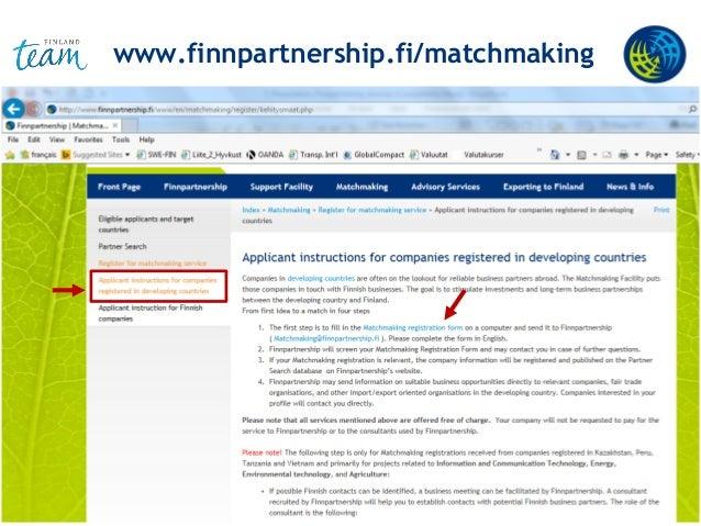 www.finnpartnership.fi/matchmaking