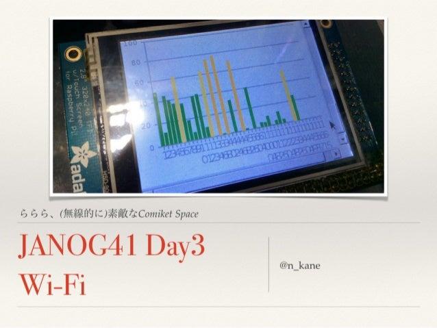 JANOG41 Day3 Wi-Fi