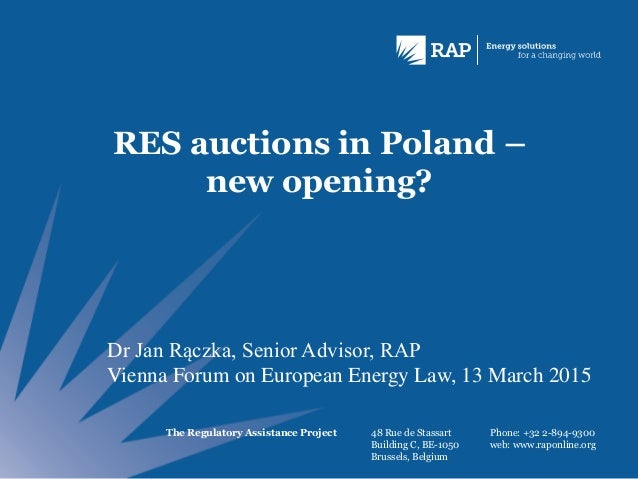 The Regulatory Assistance Project 48 Rue de Stassart Building C, BE-1050 Brussels, Belgium Phone: +32 2-894-9300 web: www....