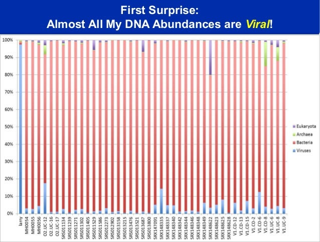 First Surprise:Almost All My DNA Abundances are Viral!