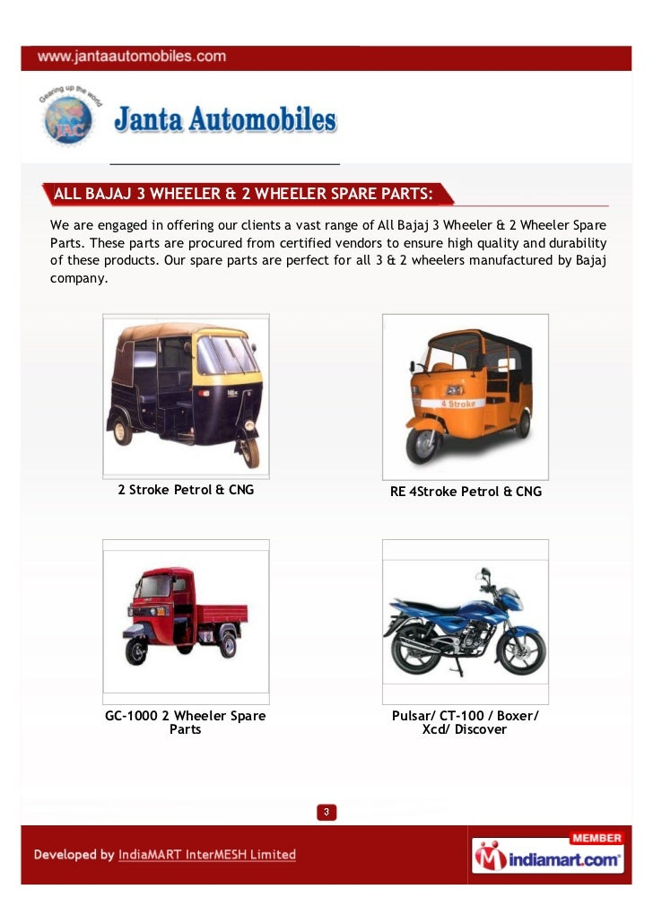 Janta Automobiles, Mumbai, ALL BAJAJ 3 WHEELER