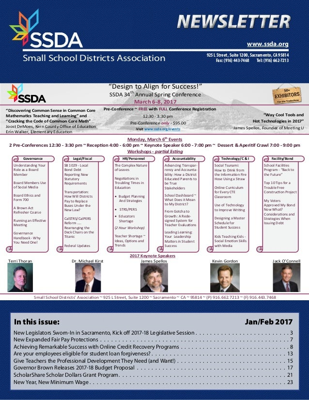 """Design to Align for Success!"" SSDA 34th Annual Spring Conference March 6-8, 2017 12:30 - 3:30 pm Pre-Conference only - $9..."