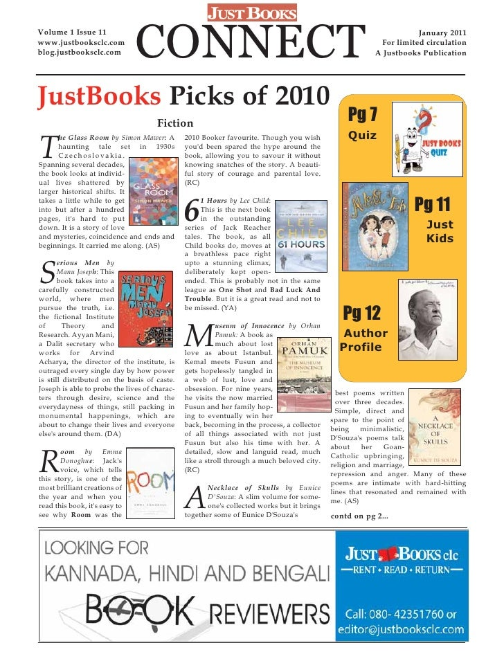 Volume 1 Issue 11www.justbooksclc.comblog.justbooksclc.com          CONNECT                                               ...