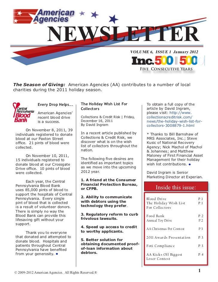 NEWSLETTER                                                                        VOLUME 6, ISSUE  January 202            ...