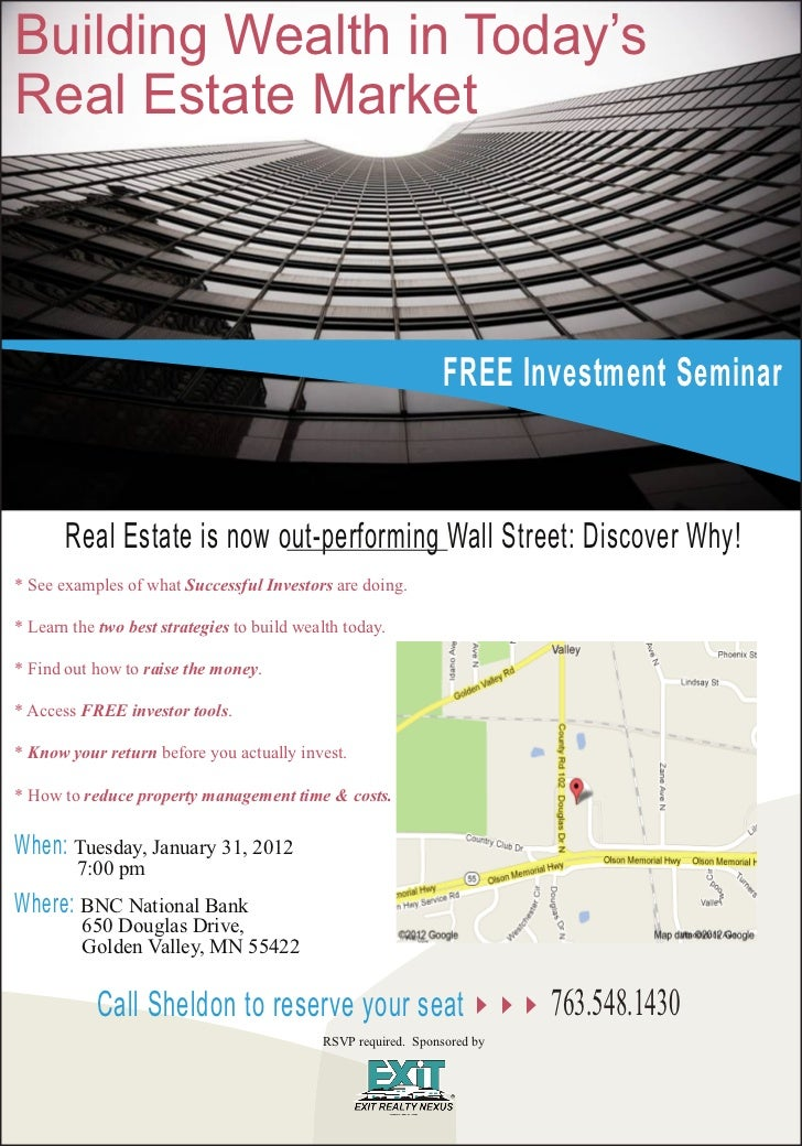 January 2012 Investor Seminar Flyer
