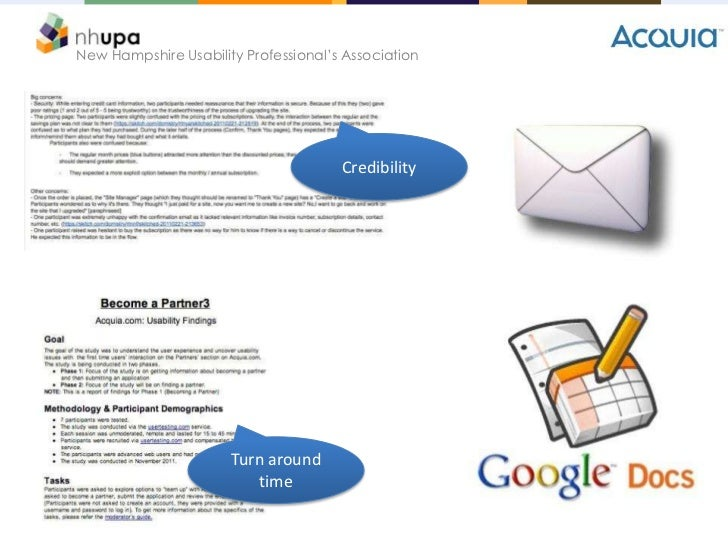New Hampshire Usability Professional's Association                                      Credibility                      T...