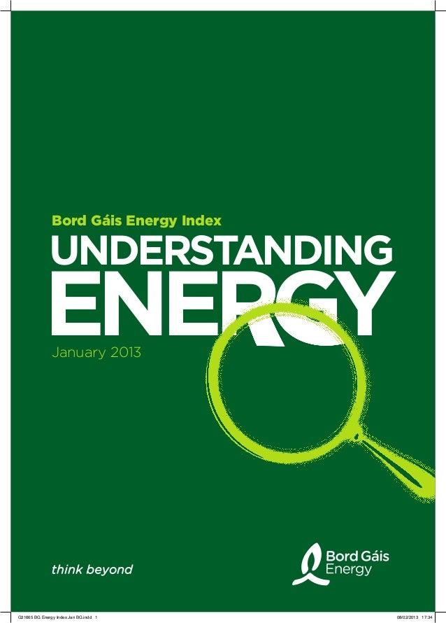 Bord Gáis Energy Index             UNDERSTANDING           ENERGY               January 2013G31665 BG Energy Index Jan BG....