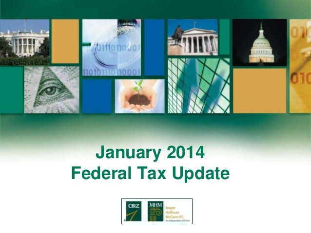 January 2014 Federal Tax Update