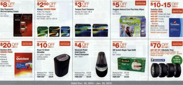 January 2015 Costco Coupon Book