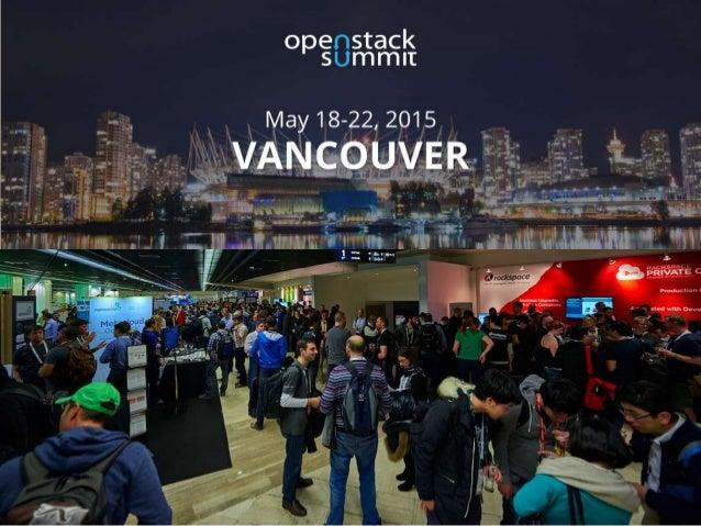 OpenStack Vancouver Summit Sponsor Overview Slide 2